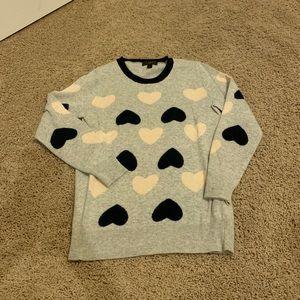 J. Crew hearts sweater.